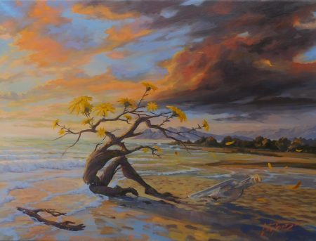 surreal painting by south african artist pieter van tonder titled 'a fleeting moment''