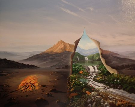surreal painting by south african artist pieter van tonder titled 'renaissance'