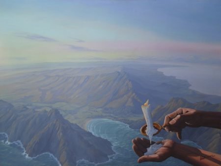 surreal painting by south african artist pieter van tonder titled 'the seventh day'